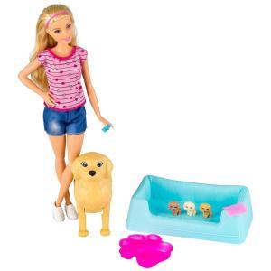 Barbie Newborn Pups Doll & Pets Playset|fujibeni