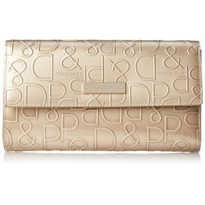 [ピンキーアンドダイアン] 長財布 【ドルチェ】 エナメル ロゴ型押し ゴールド|fujibeni