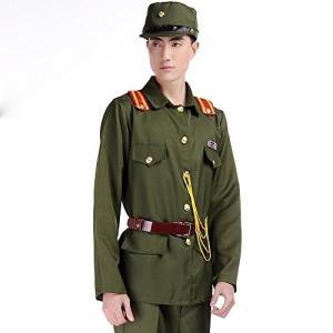 旧 日本軍 軍装 軍官下士官スーツ仮装 演劇 ハロウィーンhalloween男性用 男の子 (165cm) fujibeni