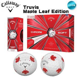 キャロウェイ クロムソフト トゥルービス TRUVIS メープルリーフ 1ダース (12球入り)ゴルフボール US仕様 fujico