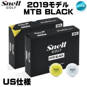 「US仕様」2019 スネル ゴルフ SNELL GOLF MTB BLACK ゴルフボール 1ダース(12球入り)「メール便不可」「あすつく対応」|fujico