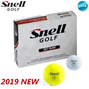 「US仕様」2019 スネル ゴルフ SNELL GOLF ゲットサム GET SUM ゴルフボール 1ダース(12球入り) (ホワイト / イエロー)「メール便不可」「あすつく対応」|fujico