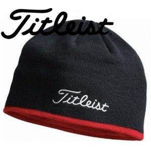 「帽子 ウェア メンズ」タイトリスト ウィンターウェア ニットキャップ ニット帽 ビーニー【1枚までゆうパケット(メール便)に変更できます】|fujico