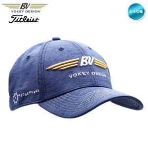 タイトリスト ボーケイ BV Wings Space Dye Cap キャップ ネイビー 39695 titleist BV design US仕様「メール便不可」「あすつく対応」|fujico