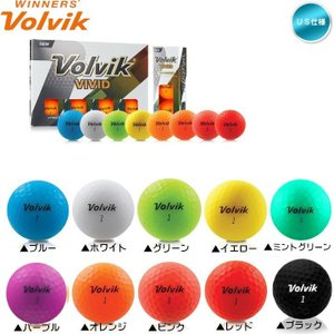 2018 NEW パッケージ ボルビック Volvik VIVID ゴルフボール 1ダース (12球入り)「メール便不可」 「あすつく対応」