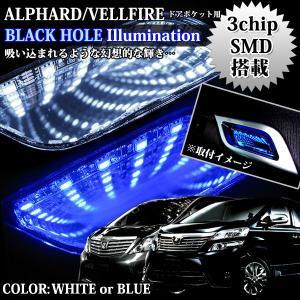 アルファード20系 ヴェルファイア LED ブラックホールライト ドアポケットライト
