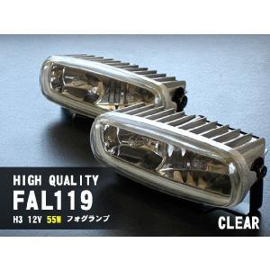 ハロゲンフォグランプ 汎用品 FAL119 12V H3 クリア 配線 & スイッチ 付き|fujicorporation2013