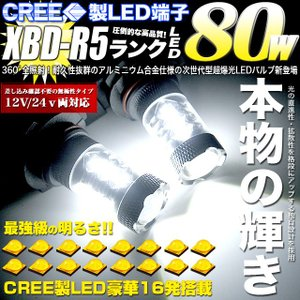 LED フォグバルブ H8 H11 H16 HB4 9006 PSX26W 80W CREE製 XBD-R5|fujicorporation2013