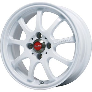 LEHRMEISTER レアマイスター LMスポーツファイナル(ホワイト) ホイール単品4本セット 4.50-14|fujicorporation