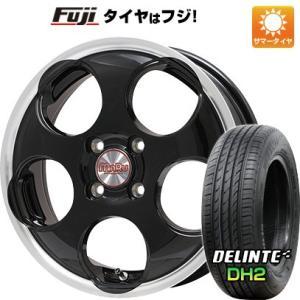 N-BOX タントカスタム ワゴンR 165/55R15■PREMIX プレミックス マル(ブラック/リムポリッシュ) 4.50-15■デリンテ DH2(限定) サマータイヤ ホイールセット|fujicorporation