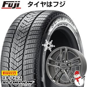 ボルボ V60 クロスカントリー スタッドレスタイヤホイールセット 215/65R16 16インチ スコーピオン ウィンター EUROTECH ガヤ5(マットチタニウム) 6.50-16|fujicorporation