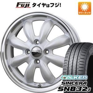155/65R14 14インチ■HOT STUFF ホットスタッフ ララパーム カップ 4.50-14■FALKEN シンセラ SN832i サマータイヤ ホイールセット|fujidesignfurniture