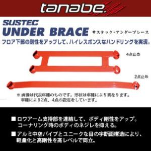 TANABE タナベ サステック アンダーブレース<br>ホンダ N-WGNカスタム(2013〜2019 JH1) 沖縄・離島は別途送料|fujidesignfurniture