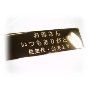 真鍮製名入れメッセージプレート【M】〜記念品表彰楯・トロフィー・フラワーアートフレーム・額縁・ゴルフチャンピオンボード・ネームプレート用|fujifudaya