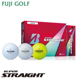 BRIDGESTONE GOLF ブリヂストン ゴルフ SUPER STRAIGHT スーパー ストレート ゴルフボール 1ダース|fujigolf-kyoto