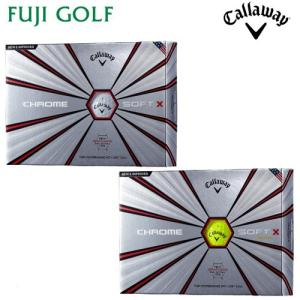 Callaway キャロウェイ CHROME SOFT X クロムソフト エックス ゴルフボール 1ダース 2018年モデル オウンネーム対象外|fujigolf-kyoto