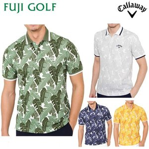 完全数量限定 ゴルフ ポロシャツ Callaway Golf キャロウェイ ゴルフ ボタニカルプリント ポロシャツ(MENS) 半袖 2419151532 2019年モデル|fujigolf-kyoto