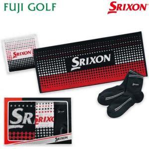 ゴルフ ギフト DUNLOP SRIXON ダンロップ スリクソン タオル・ソックスセット GGF-20441|fujigolf-kyoto