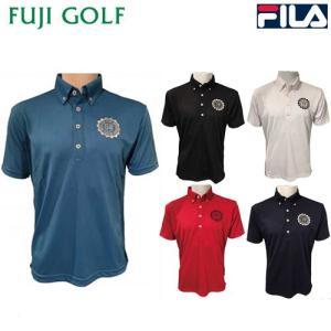 在庫限り特価品 FILA GOLF フィラ ゴルフ メンズ 半袖 ボタンダウン ポロシャツ 747-658 UVカット 吸汗速乾|fujigolf-kyoto
