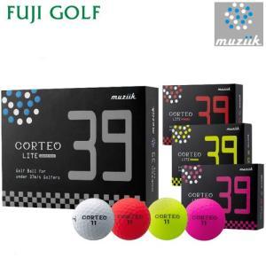 在庫限り 超特価 muziik ムジーク CORTEO LITE 39 コルテオライト 39 ゴルフボール 1ダース 2017年モデル|fujigolf-kyoto