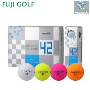 在庫限り 超特価 muziik ムジーク CORTEO LITE 42 コルテオライト 42 ゴルフボール 1ダース 2018年モデル|fujigolf-kyoto