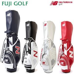 ゴルフ キャディバッグ new balance golf ニューバランス ゴルフ シンセティックレザー キャディバッグ(UNISEX METRO) 2018AWモデル|fujigolf-kyoto
