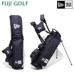 ゴルフ キャディバッグ NEW ERA Golf ニューエラ ゴルフ キャディーバッグ スタンド式 タイガーストライプネイビー ベーシックポーチ付き 2019年モデル|fujigolf-kyoto