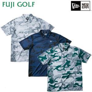 ゴルフ ポロシャツ 半袖 NEW ERA Golf ニューエラ ゴルフ ポロシャツ 鹿の子 カモフラージュ柄 メンズ 数量限定 2019年モデル|fujigolf-kyoto