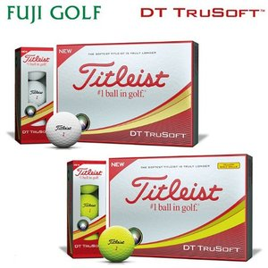 Titleist タイトリスト NEW DT TRUSOFT ディーティー トゥルーソフト ゴルフボール 1ダース 2018年モデル|fujigolf-kyoto
