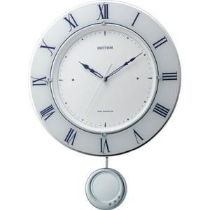 RHYTHM リズム時計 電波掛時計 トライメテオ 8MX402SR03|fujii-tokeiten