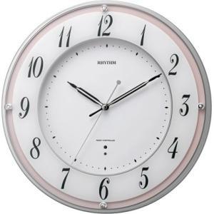 RHYTHM リズム時計 電波掛時計 ミレディローズ 8MY498SR13|fujii-tokeiten