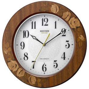 CITIZENリズム時計 Rhythm 象嵌仕上電波掛時計 8MY520SR06|fujii-tokeiten