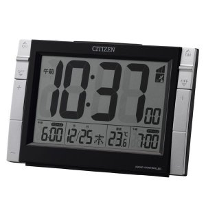 CITIZEN シチズン 電波めざまし時計 パルデジットワイドDS|fujii-tokeiten