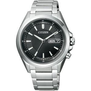 シチズン腕時計 ソーラー電波時計 アテッサAT6040-58...