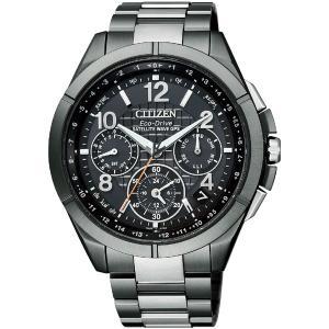 シチズン腕時計ATTESAブラックチタンシリーズ エコ・ドラ...