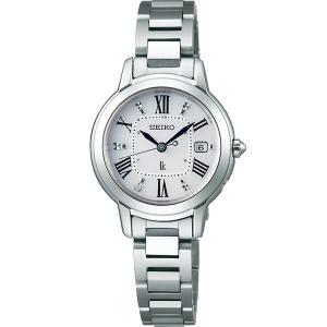 SEIKO LUKIA セイコールキア 腕時計 ソーラー電波時計 レディダイヤ チタンシリーズ SSQW035|fujii-tokeiten