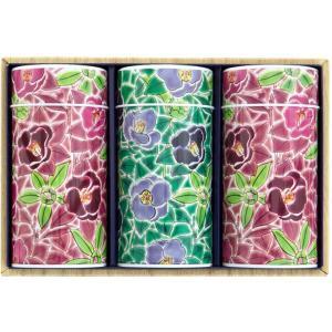 九谷つばき(陶芸缶) この九谷つばき茶缶は、伝統的な「九谷五彩」(緑・黄・紫・紺青・赤の五色の絵の具...