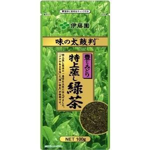 〔ケース販売〕伊藤園 味の太鼓判 特上蒸し緑茶1000〔100g×10本セット〕 まとめ買い