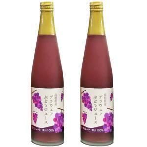 【お歳暮ギフト・山陰の特産品】デラウェアぶどうジュース2本セット(S1040-47) 全国送料無料♪ fujikicorp