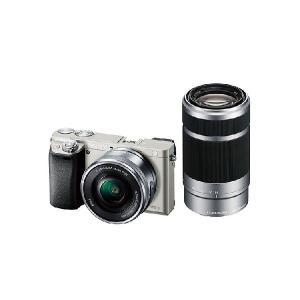 【安心のメーカー一年保証】デジタル一眼カメラ ILCE-6000Y S α6000 ダブルズームレンズキット シルバー|fujimasushop