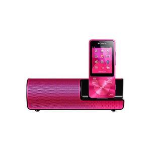SONY ポータブルプレーヤー NW-S14K ビビッドピンク 8GB スピーカー付属 Bluetooth対応、最長77時間再生のスタミナ!【メーカー1年保証】|fujimasushop