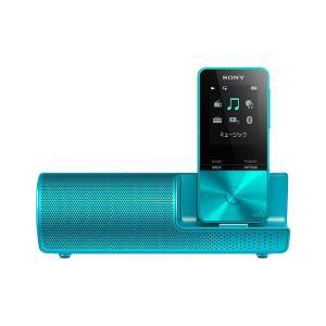 SONY ポータブルプレーヤー NW-S315K ブルー 16GB スピーカー付属モデル、最長52時間再生のスタミナ!【メーカー1年保証】|fujimasushop