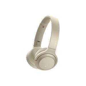 【メーカー一年保証】SONY h.ear on 2 Mini Wireless WH-H800 ペールゴールド ハイレゾ音源対応 100kHz再生を実現|fujimasushop