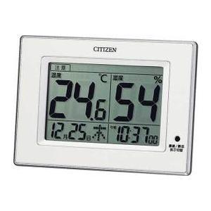 シチズン/CITIZEN 掛置兼用デジタル温湿度計 ライフナ...