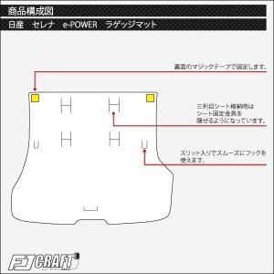 新型 日産 セレナ C27系 (e-POWER) ラゲッジマット (ラバー)|fujimoto-youhin|03