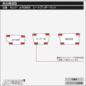 新型 日産 セレナ C27系 (e-POWER) シートアンダーマット (チェック) おすすめ fujimoto-youhin 04