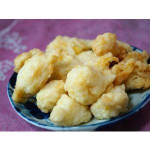 【春期限定商品】 愛媛産の柚子を使用したちぎり天ぷらです。 白色と黄色の涼しげで爽やかな見た目と甘酸...