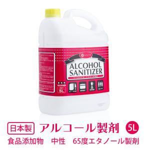 日本製 エタノール製剤 5L 在庫あり 即納 e-style アルコールサニタイザー65 アルコール除菌液 ウイルス対策 業務用の画像
