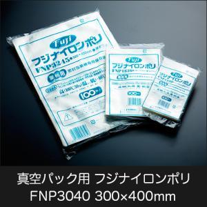 真空パック用ナイロンポリ袋 フジ ナイロンポリ FNP3040(300×400mm) 1ケース(10...
