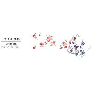 花柄白地ガーゼおてぬぐい。 ピンク・パープル・ブルー 3色をご用意いたしました。  サイズ:約35×...